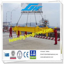 Distribuidor telescópico hidráulico de contenedores para contenedores de 20 y 40 pies