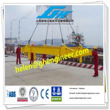 Spreader telescópico hidráulico para contentores para contentores de 20 e 40 pés