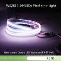 DC5V 144pixel / M 7mm / Cut 144LEDs Ws2812 LED Pixel Faixa à prova d'água