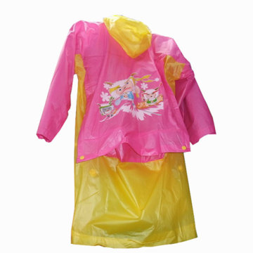 Kids Colorful PVC Raincoat