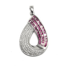 Fashion Oval CZ Zircon Pendant Jewelry Accessory Findings