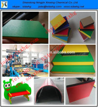 OrangeTexture surface three layer HDPE sheet / double color hdpe plastic boards