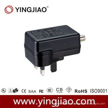 Адаптер 15W переменного тока коаксиальный питания постоянного тока с CE