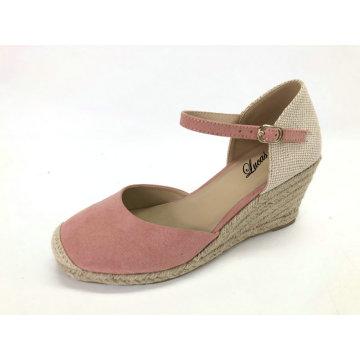 Sandales compensées à talons espadrilles d'été pour femmes