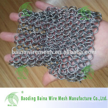 stainless steel chain mail cast iron pan scrubber/grill scrubber