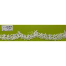 Stickerei Spitze Elfenbein Blume Trim für Vorhang & Kleidungsstück CTC193-R