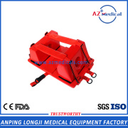use with spine board red adult head immobilizer