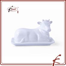 Cerâmica, vaca, dado forma, manteiga, pratos
