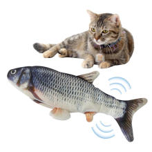 Christmas Pet Cat Fish Toy Interactive Gifts Fish Cat Catnip Toys Stuffed Pillow Doll Simulation Fish Playing Electric Cat Toy