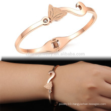 Wholesales & Retail Jewelry Korea Fashion Women Lady's Sexy Crystal Bangles Frosted Rose Gold Plated Bracelets Wholesale GH725