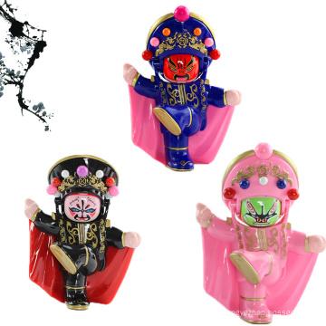 FQ tout nouveau design populaire chinois traditionnel Sichuan Opera Face petite poupée artisanale
