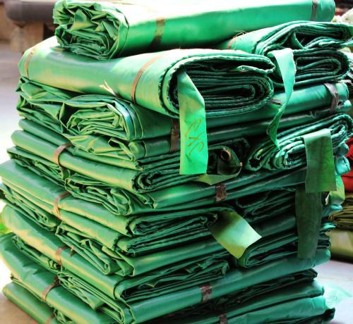 green pvc tarp