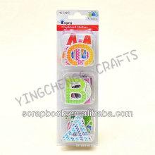 adesivo de lousa removível de crianças única letra