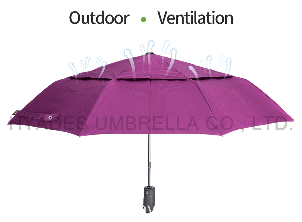 Auto Ope And Close Folding Umbrella Ventilation