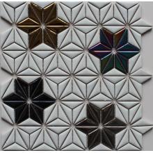 Flor padrão mosaico cerâmico
