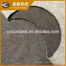 tissu molletonné d'aiguille tricotée par coton et polyester brossé pour les vêtements d'hiver