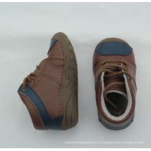 Зима новорожденного ребенка неподдельная кожа твердая подошва ботинки ботинки