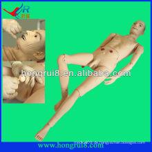 Fortgeschrittene medizinische Voll-funktionale ältere männliche Patient Modell medizinische männliche Krankenpflege Modell der Puppe