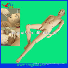 Avanzado Médico Completo-funcional Anciano Modelo de Paciente Masculino modelo médico de enfermería masculina el maniquí