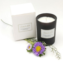 Home Strong Clean Fragrance Matte Black Glass Candle