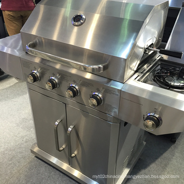 High Quality Full Stainless Steel 4 Burner Gas Grill BBQ