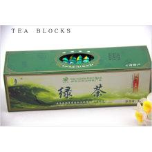 125g para retardar a senescência Chinês puro chá verde blocos