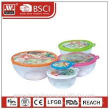 Plástico redondo Container(0.2L) de alimentos