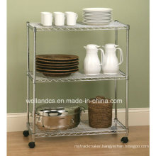Multifunctional Mordern Adjustable Metal Tea Cup Rack Cart for Home (LD603590B3CW)