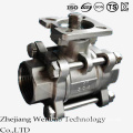 3PC Manual Casting ISO Platform Ball Valve with Lock Handle