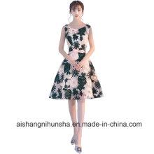 Lace Flower Elegant Formal Prom Dresses Party Bridal Banquet Dress