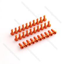 Tornillos de zócalo modificados para requisitos particulares de la cabeza de botón del aluminio 7075 para los abejones