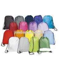 recycle 210d polyester drawstring shopping bag