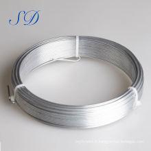 mytext Câble métallique en acier galvanisé anti-torsion de calibre 12,5