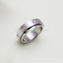 Fabriqué en Chine Anneau à spirale en acier inoxydable avec des cristaux