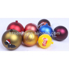Custom LOGO Novelty Christmas Baubles
