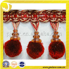 Pequena franja de pom pom macio para cortina decorativa, guarnições de pompom