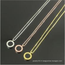 Collier en acier inoxydable à double coquille Collier bijoux à la mode (hdx1150)