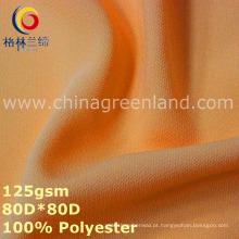 Poliéster de duas vias spandex chiffon tecido para vestuário vestido (gllml346)
