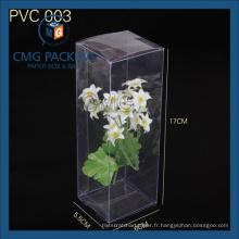 Boîte d'emballage en PVC rectangulaire en PVC (CMG-PVC-008)