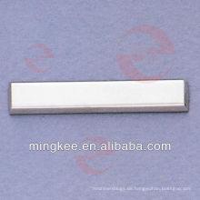 Rechteck Metall Tag Logo Platte für Tasche (N21-667A)