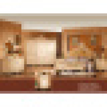 Schlafzimmermöbel mit antikem Bett und Kleiderschrank (W809)