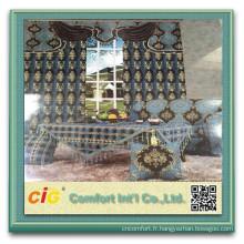 Tissu de Rideau en jacquard de polyester canapé tissu de Chenille chenille