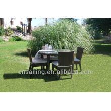 Popular Patio Waterproof black rattan table and chairs