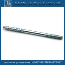 C1022 Stahl Doppelgewinde Holzschrauben