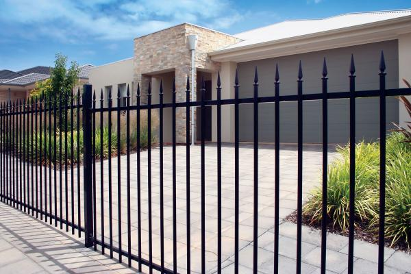 Powder coated security picket fence