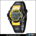 plastic digital sports watch men, day date month watch movement