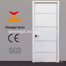 Aluminum grooves Flush bedroom wooden door