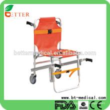 Chaise d'escalier en alliage d'aluminium de haute qualité Chaise d'escalier avec roues