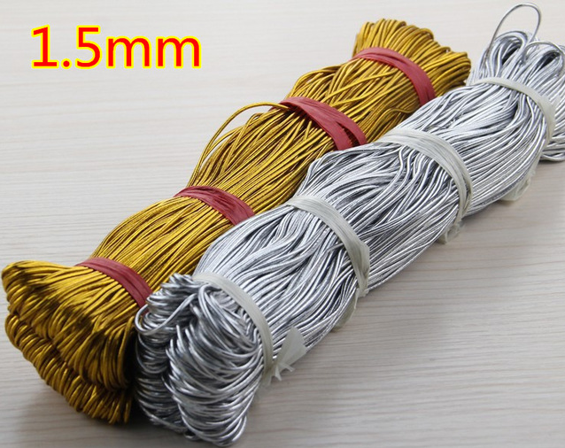 Supply Gold Metalic Elastic Cord