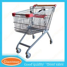 estilo europeo artículo caliente supermercado carrito de la carretilla de la compra